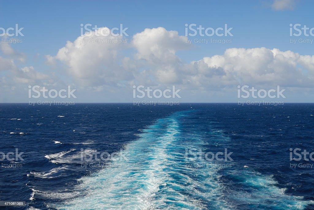 Cruise Wake royalty-free stock photo