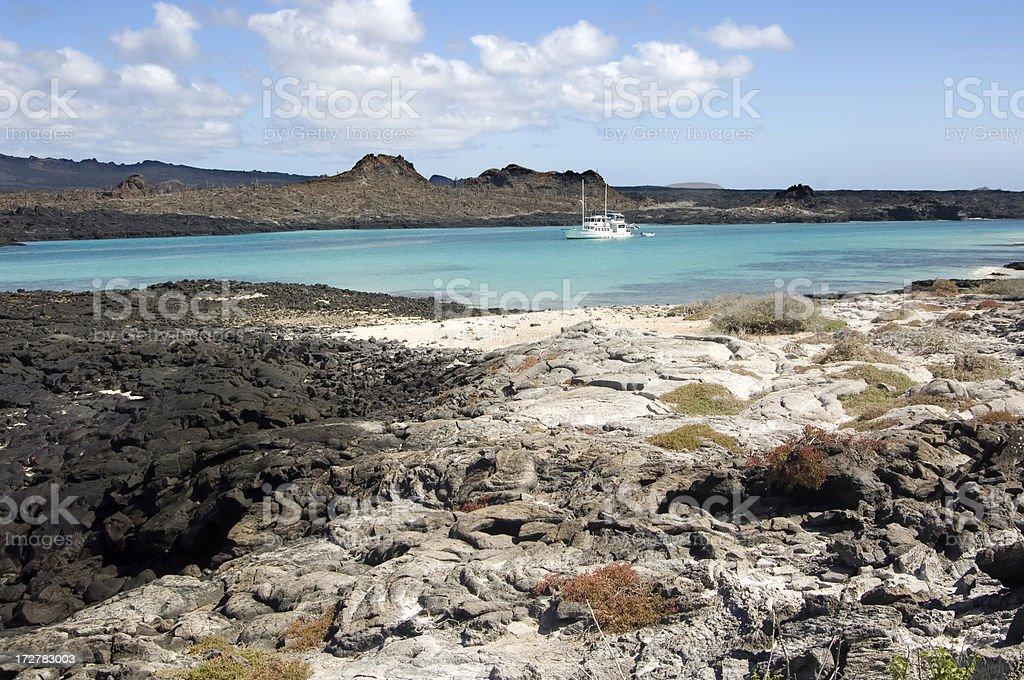 Cruise yacht, Galapagos Islands stock photo