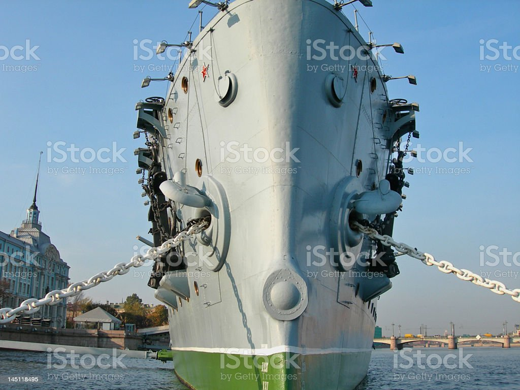 Cruiser Aurora royalty-free stock photo
