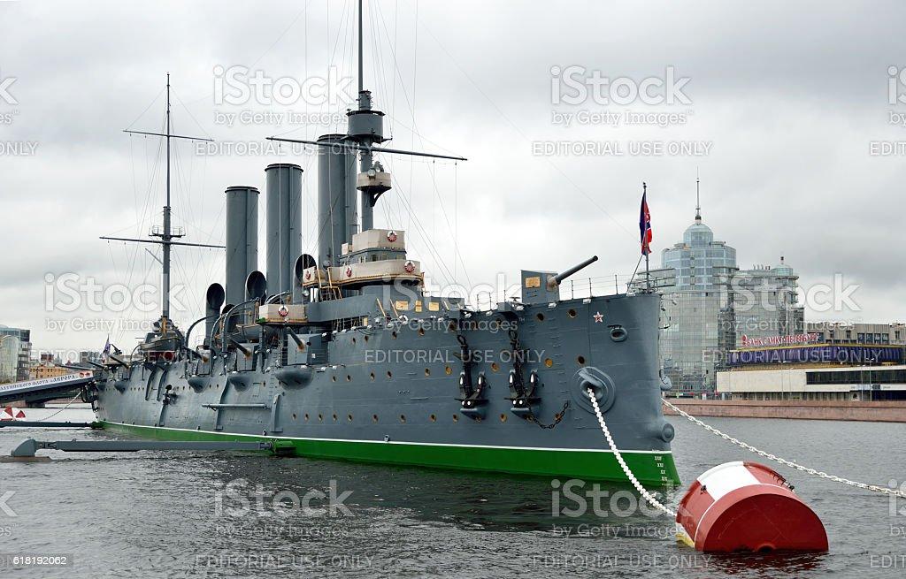 Cruiser Aurora stock photo