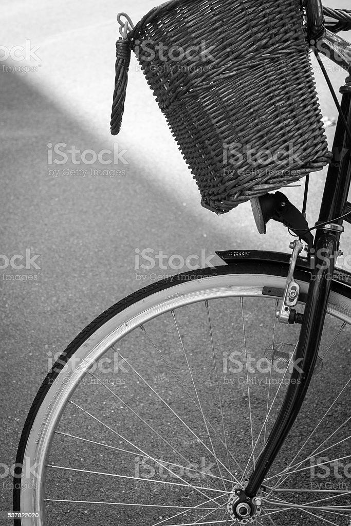 Cruiser Bicycle with Basket stock photo
