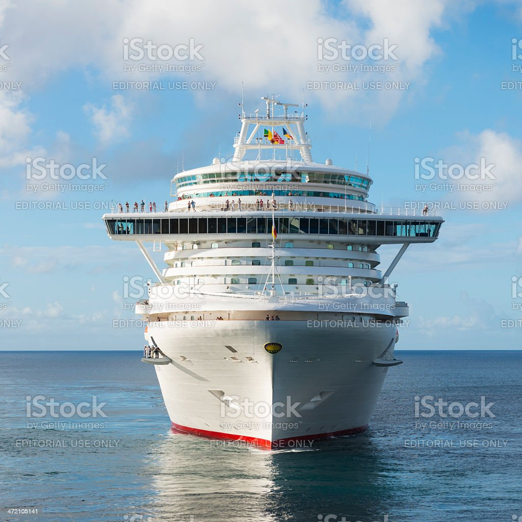 P&O Cruises cruise ship and calm sea stock photo