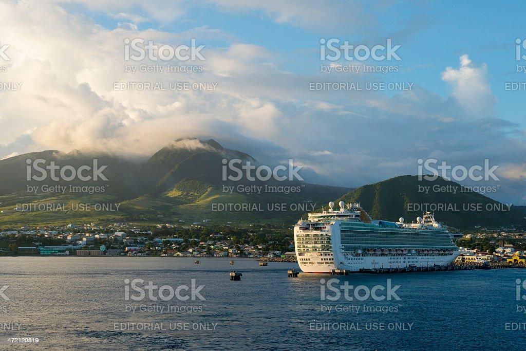P&O Cruises Ventura at St. Kitts stock photo