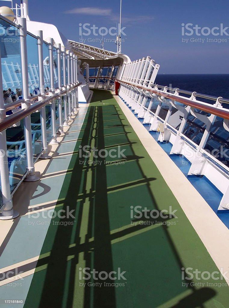 Cruiseship Jogging Track stock photo