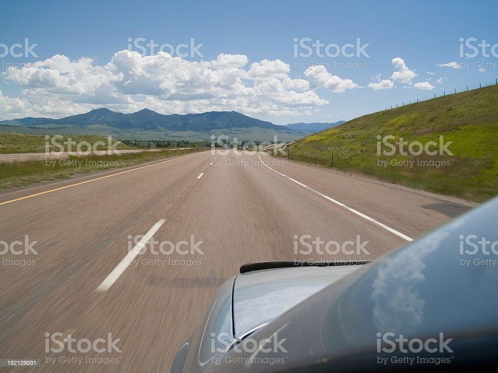 Cruisin' on the Interstate stock photo