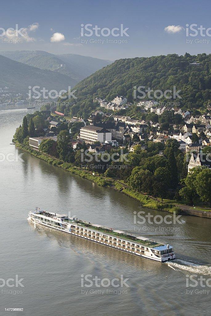 Cruising along the Rhine, Germany stock photo