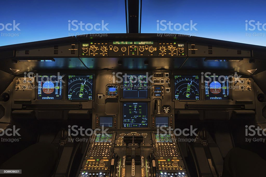Cruising at Flight Level 360 stock photo