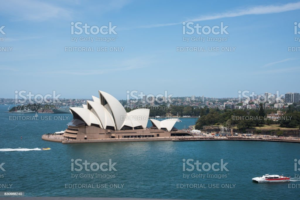 Cruising by the Sydney Opera House stock photo