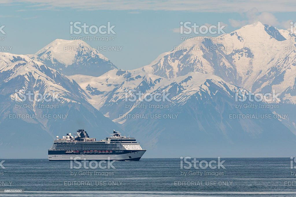 Cruising Disenchantment Bay stock photo