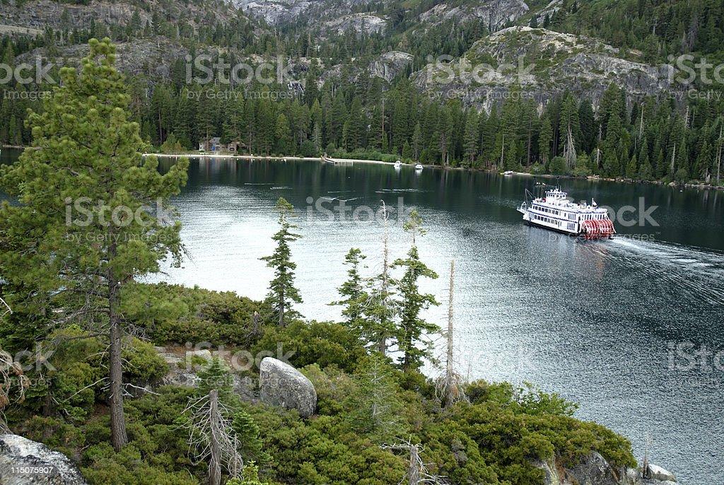 Cruising Emerald Bay stock photo