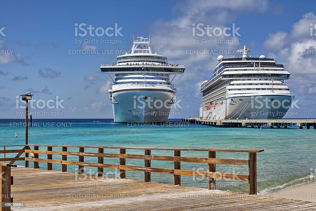 Cruising Grand Turk Island stock photo