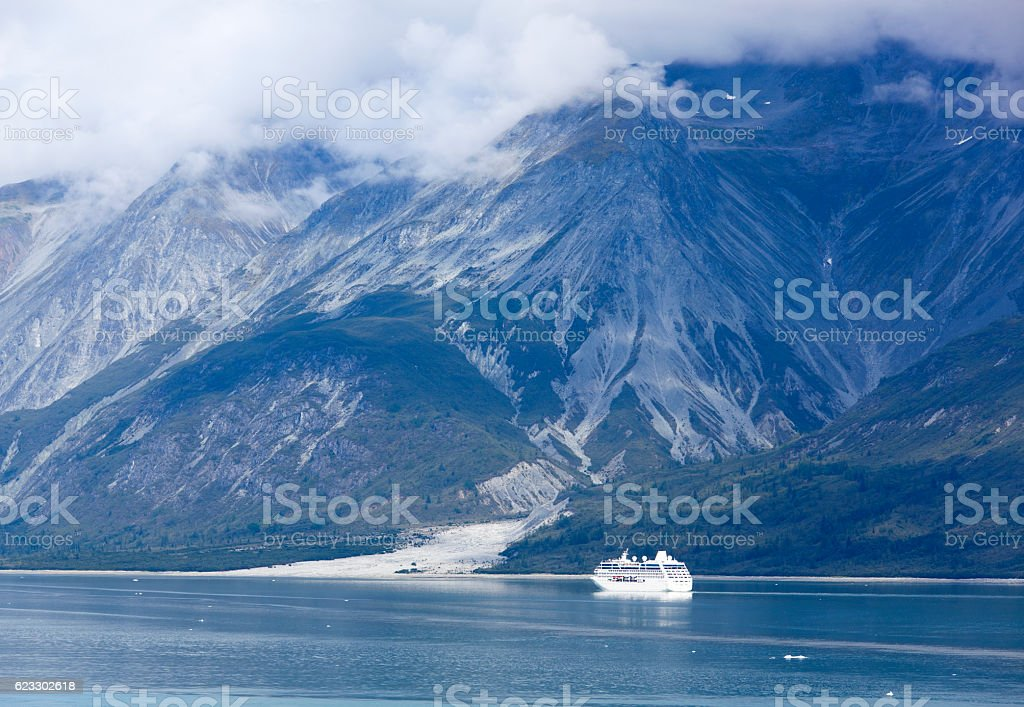 Cruising In Glacier Bay stock photo