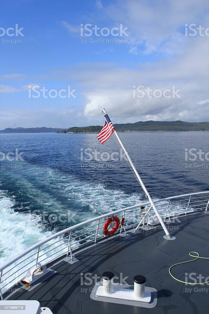 Cruising in the Fjords royalty-free stock photo