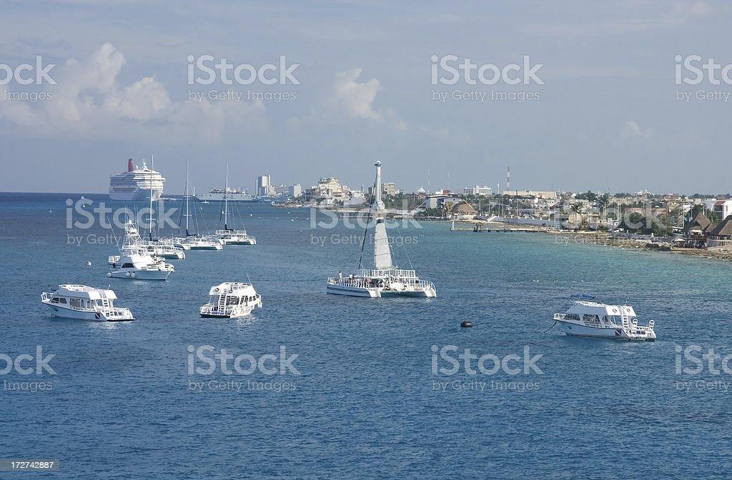 Cruising into Cozumel Mexico royalty-free stock photo