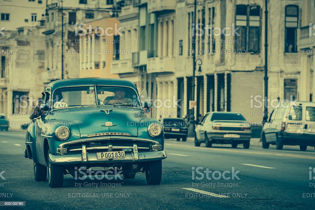 Cruising on Malecon stock photo