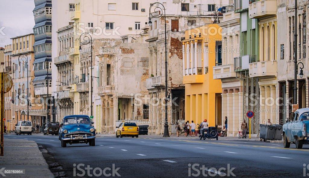Cruising on Malecon stock photo