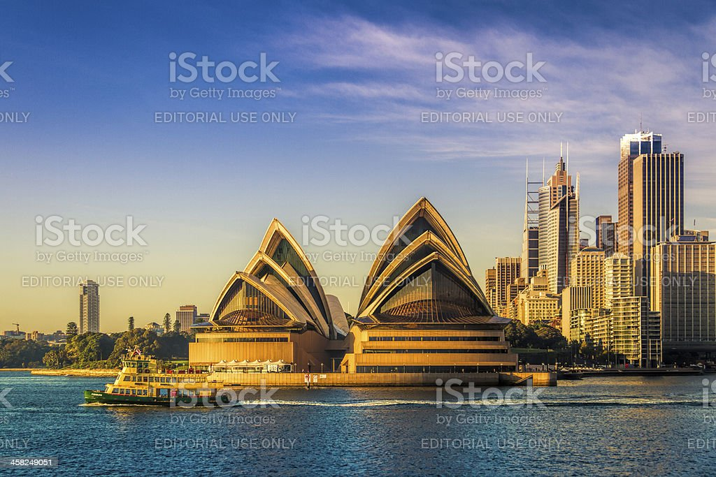 Cruising past the Sydney Opera House stock photo
