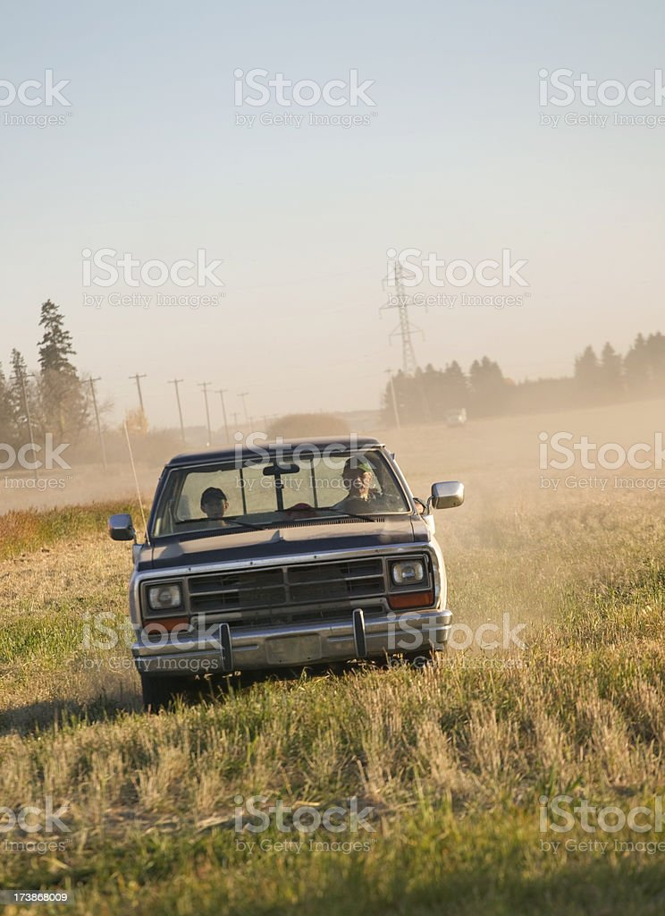 Cruising the fields royalty-free stock photo
