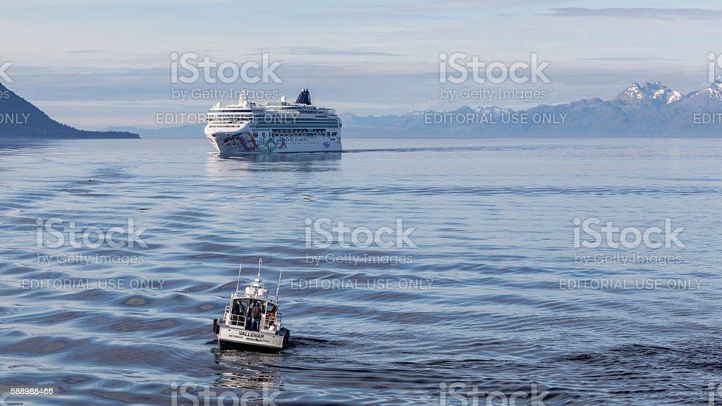 Cruising the Inner Passage stock photo