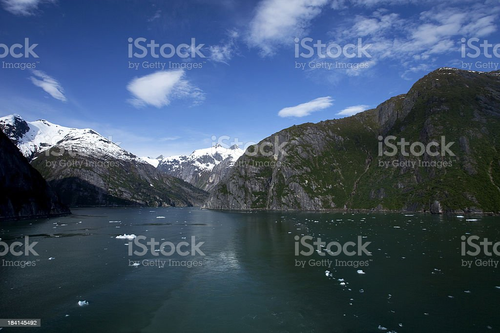 Cruising the Tracy Arm Fjord stock photo