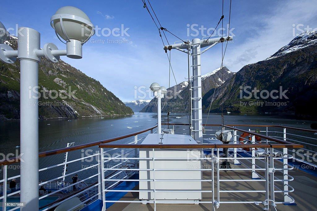 Cruising through the Tracy Arm Fjord stock photo