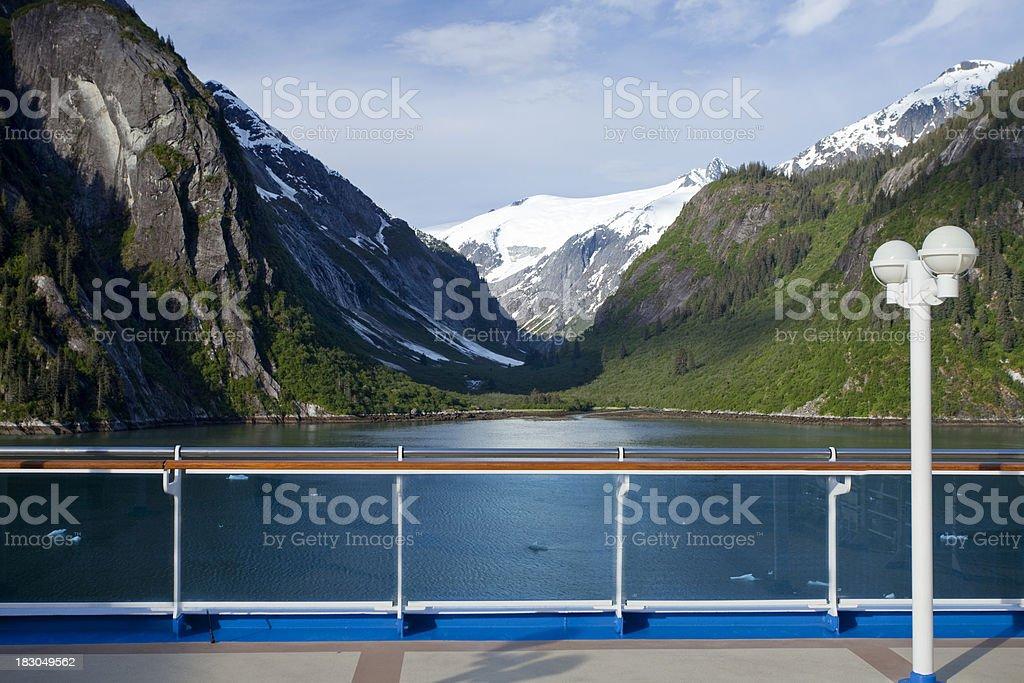 Cruising through Tracy Arm Fjord stock photo