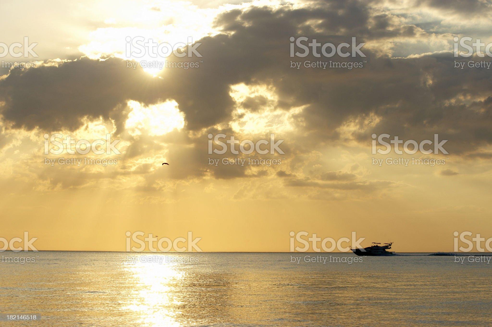 Cruising Yacht royalty-free stock photo