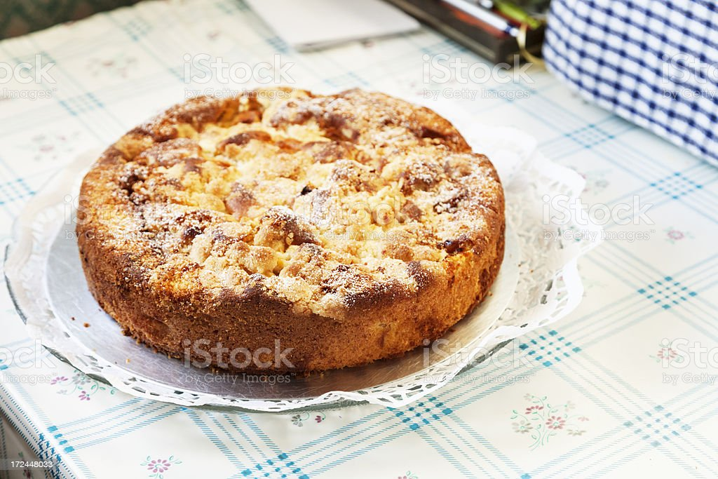 crumble cake on tble royalty-free stock photo