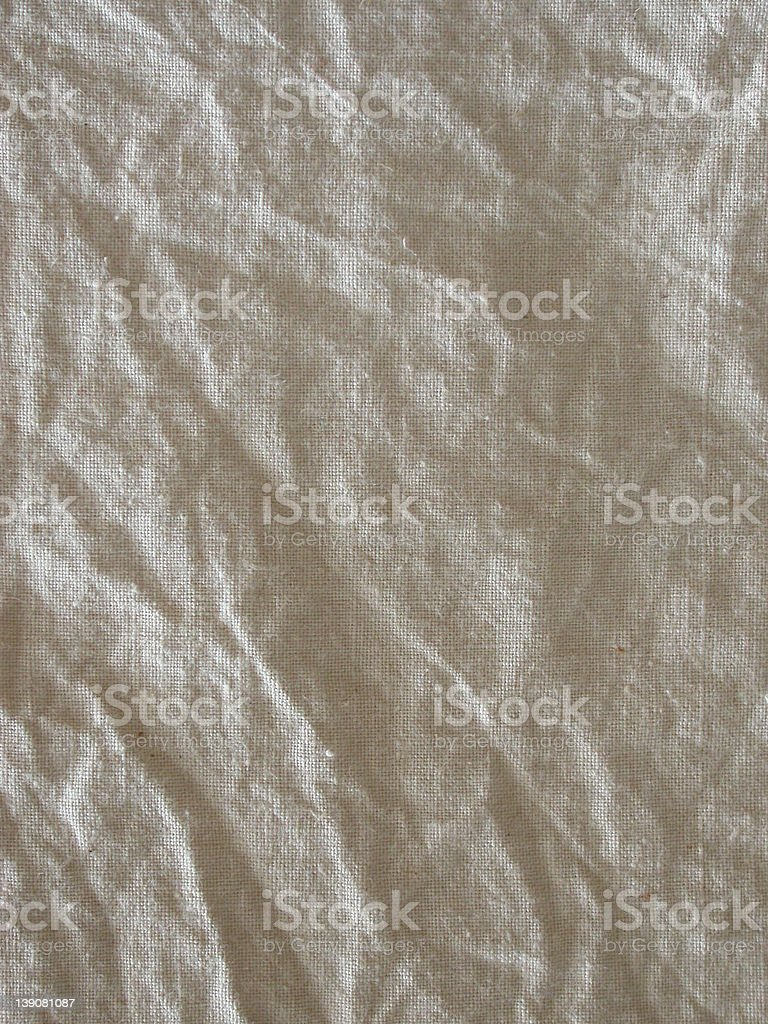 Crumbled Cotton Fabric 2 royalty-free stock photo