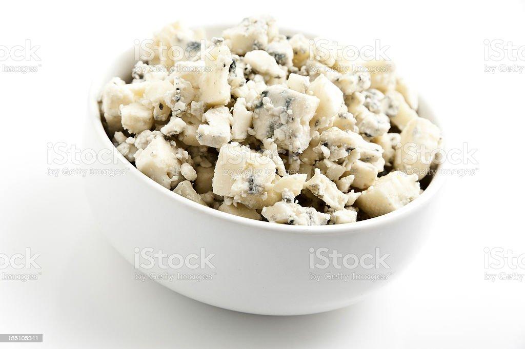 Crumbled gorgonzola cheese royalty-free stock photo