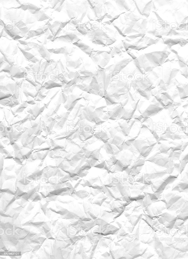 Crumbled White Paper, XXL 5398 x 3912 royalty-free stock photo