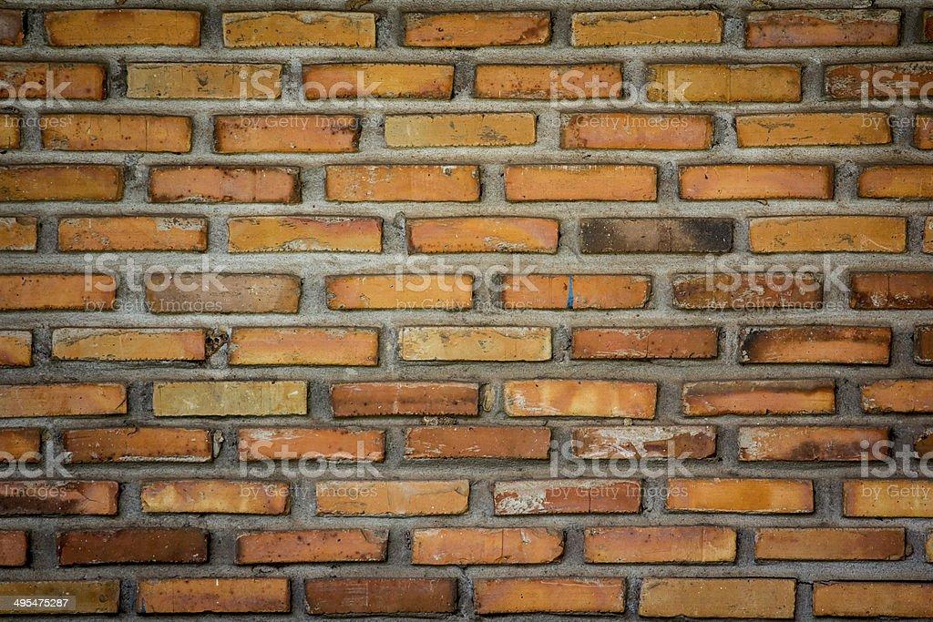 Crumbling brick walls stock photo