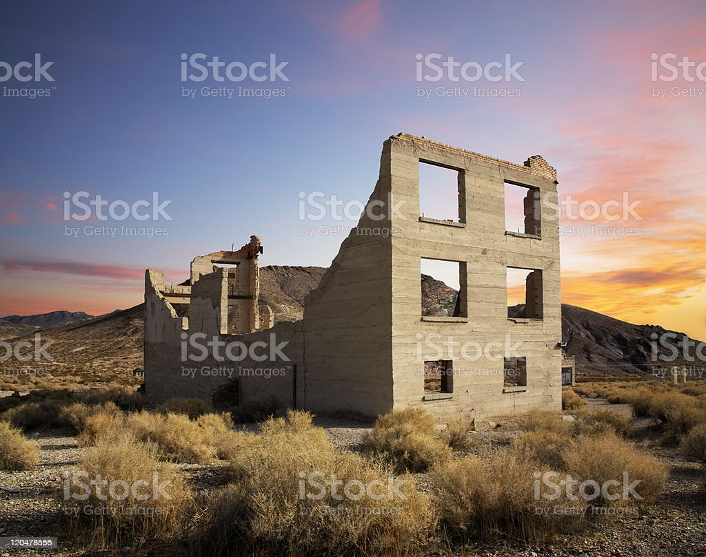 Crumbling Building stock photo