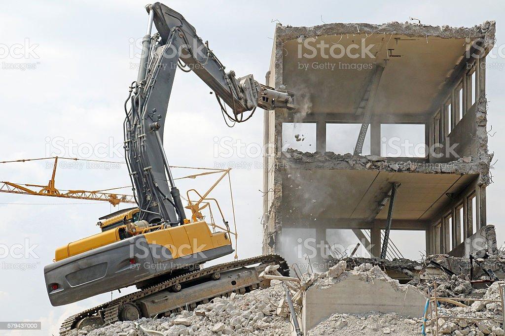 Crumbling Concrete stock photo