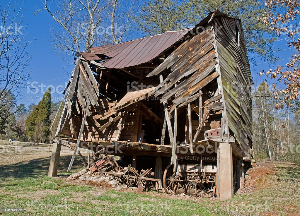 Crumbling Old Barn royalty-free stock photo