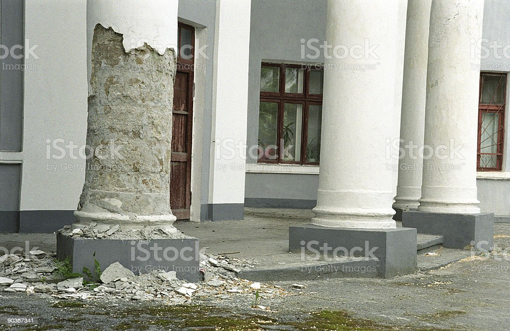 crumbling pillar royalty-free stock photo