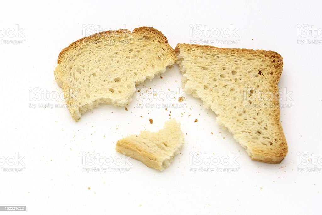 Crumbs of bread royalty-free stock photo