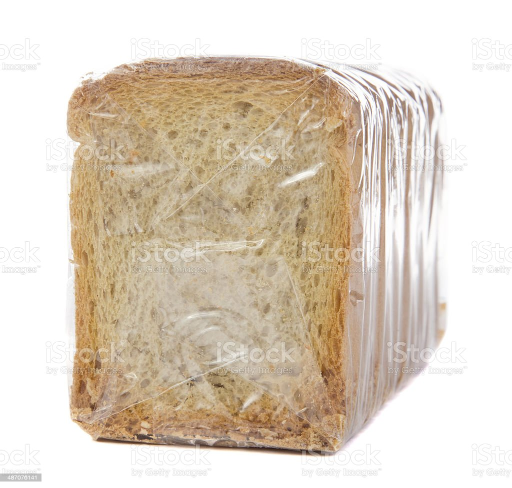 crumbs of bread sealed stock photo