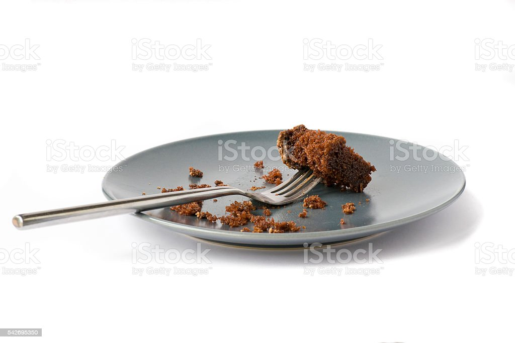 crumbs of chocolate cake stock photo
