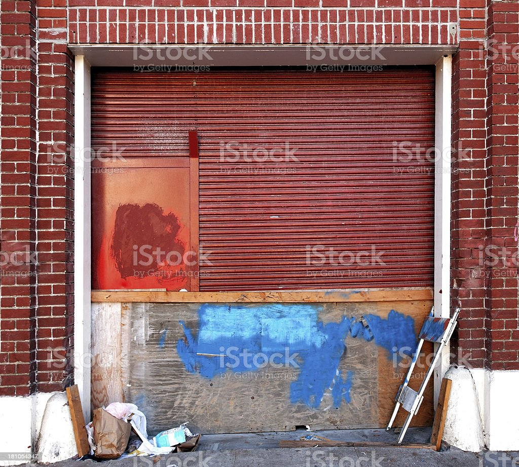 Crummy Loading Dock stock photo