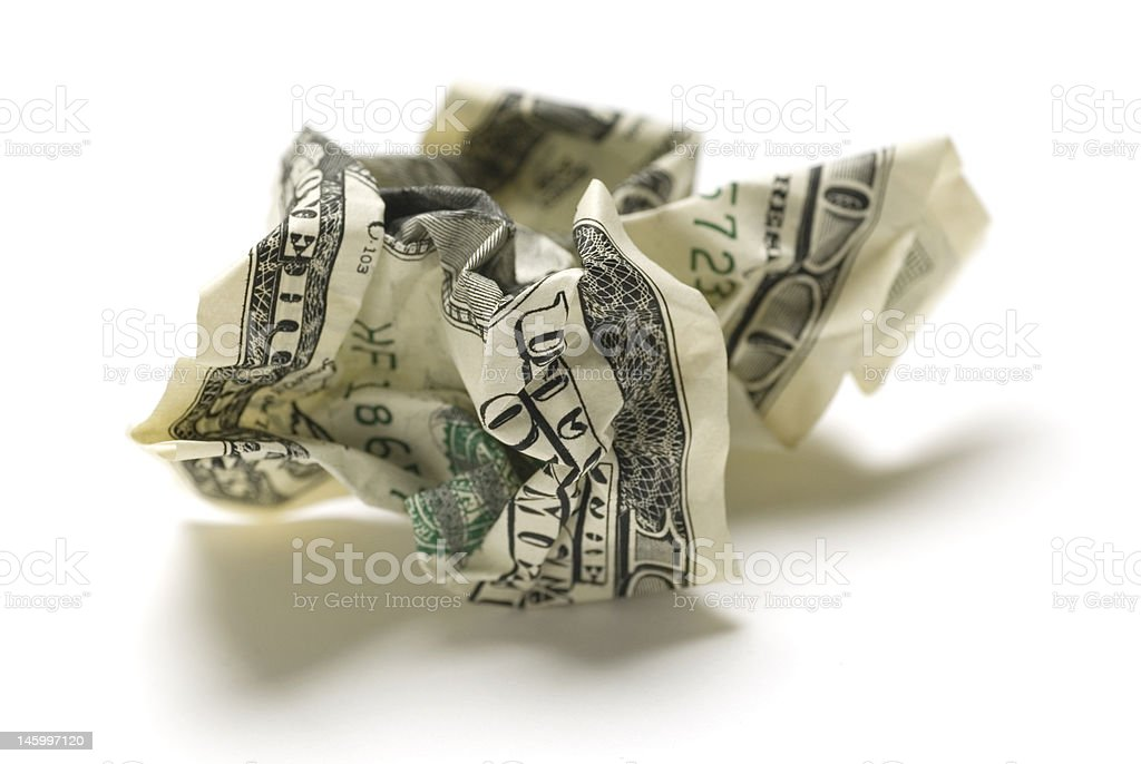 Crumpled american money royalty-free stock photo