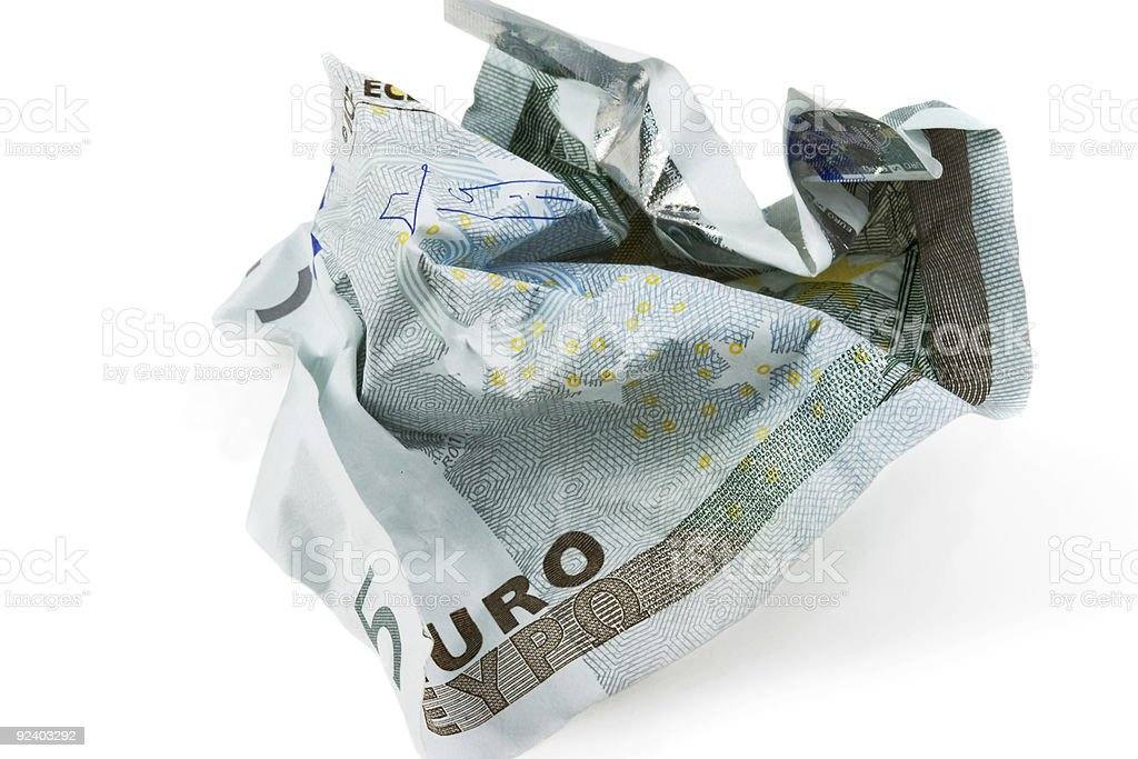 Crumpled banknote royalty-free stock photo