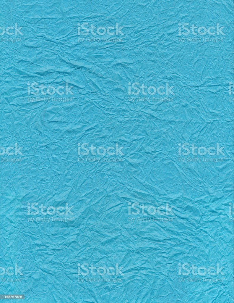 Crumpled Blue Paper XXL royalty-free stock photo