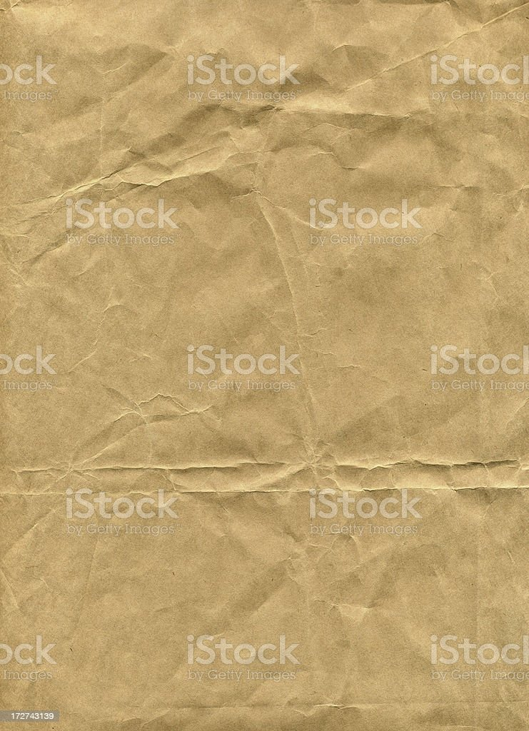 crumpled brown paper royalty-free stock photo