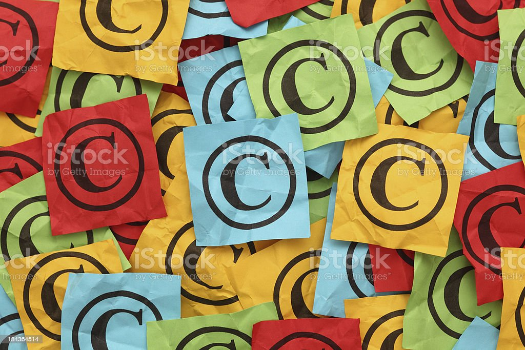 Crumpled Copyright stock photo