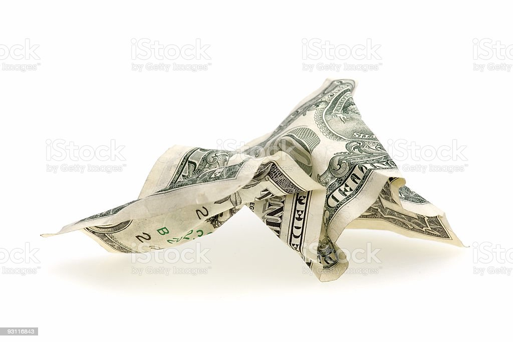 crumpled dollar royalty-free stock photo