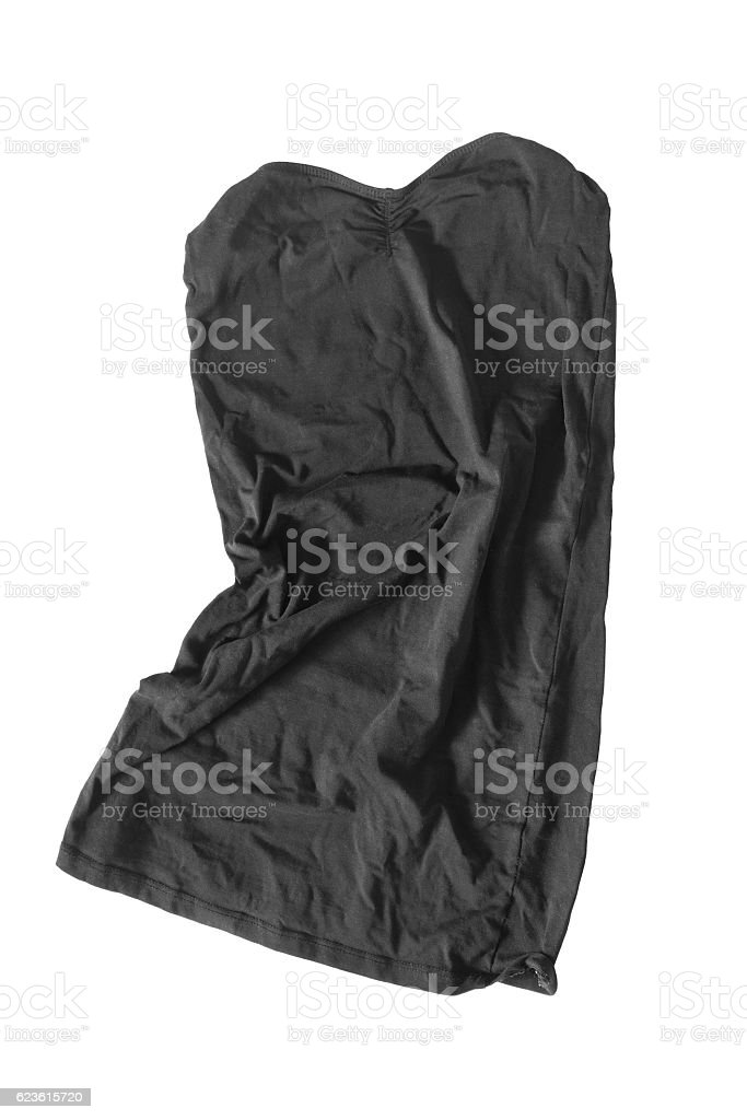 Crumpled dress isolated stock photo