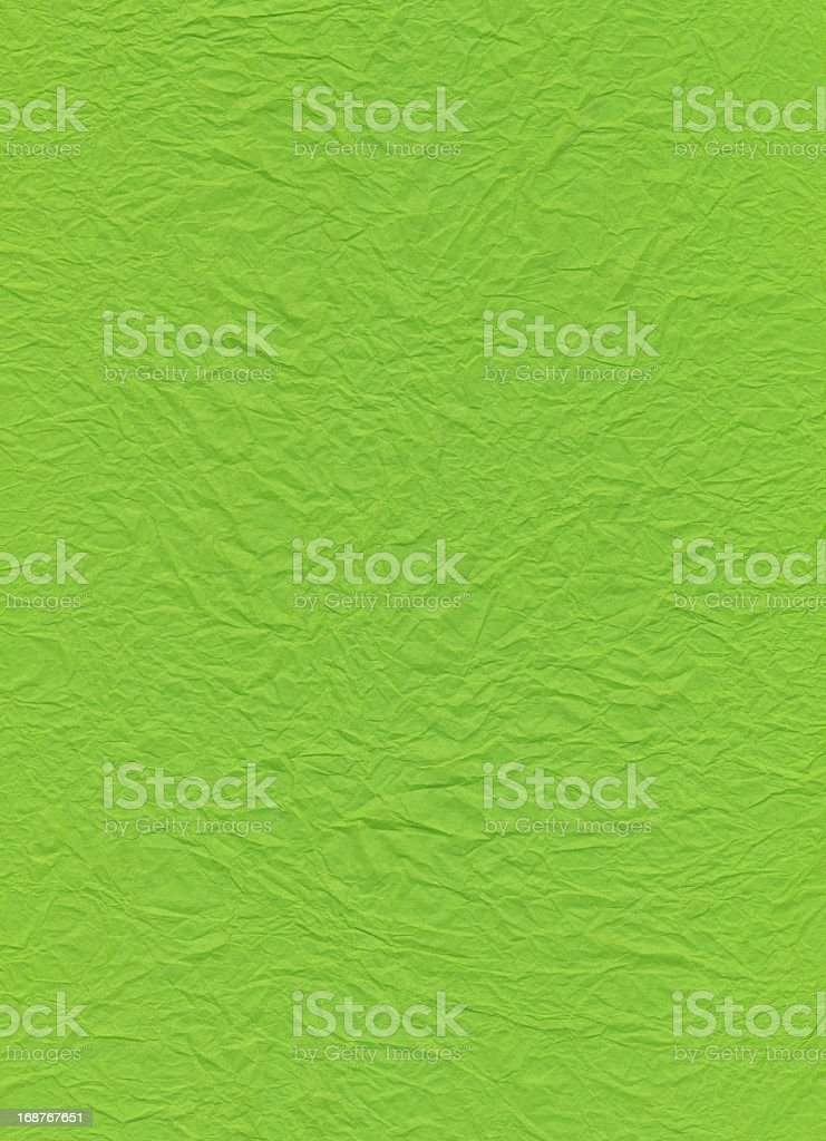 Crumpled Green Paper royalty-free stock photo