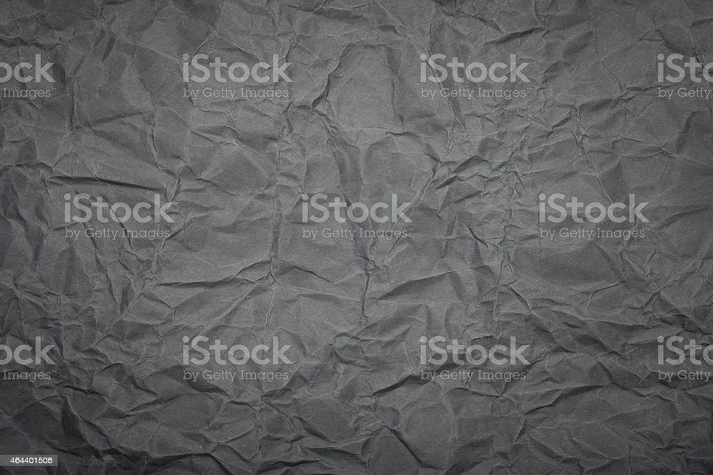 Crumpled grey paper background stock photo