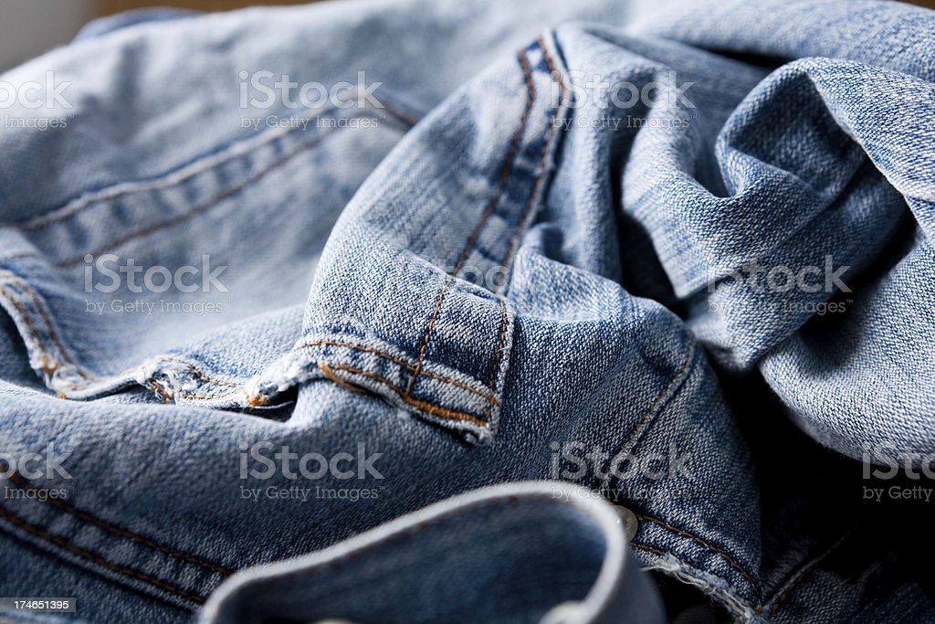 Crumpled jeans royalty-free stock photo